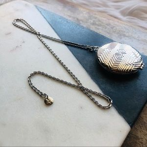 House of Harlow 1960 // Medallion Locket Necklace